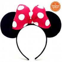 Minnie Headband Ear Polkadot Pink