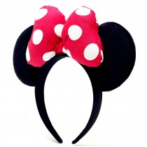 Minnie Headband Ear Polkadot Pink