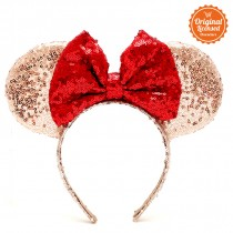 Minnie Headband Blink Ribbon Red