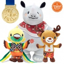 Asian Games 2018 Paket A (Maskot+Medal)